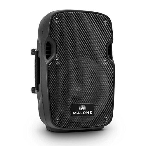Malone PW-2908A - aktiver PA-Lautsprecher, PA Box, In- und Outdoor Lautsprecher, 20cm (8