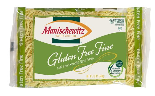 Manischewitz Gluten Free Fine Egg Noodles, 12 Ounce (Pack of 4)