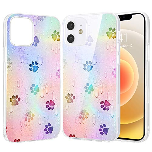 LuGeKe Dog Paws Print Phone Case for iPhone7/iPhone8/iPhone SE 2020,Puppy Paw Patterned Case Cover,TPU Cover Flexible Ultra Slim Anti-Stratch Bumper Protective Pup Dogs Phonecase(Dog Paws)