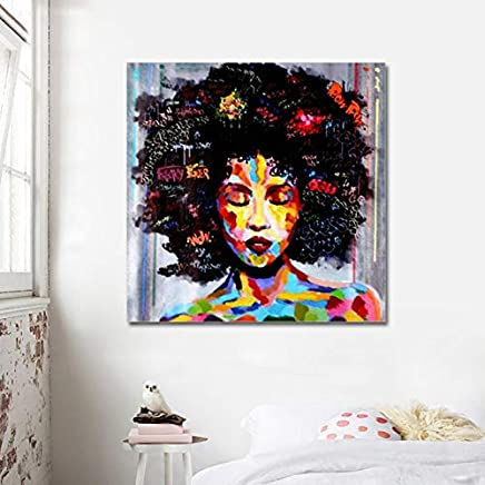 Feidazh Tableaux Muraux Impression Sur Toile Tableau Décoration Murale Mur  Art Art Abstrait Moderne Femmes Africaines