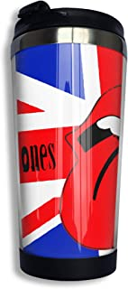 The Rolling Stones Mug Coffee Thermos Travel Stainless Tumbler Coffee Cups 14 OZ