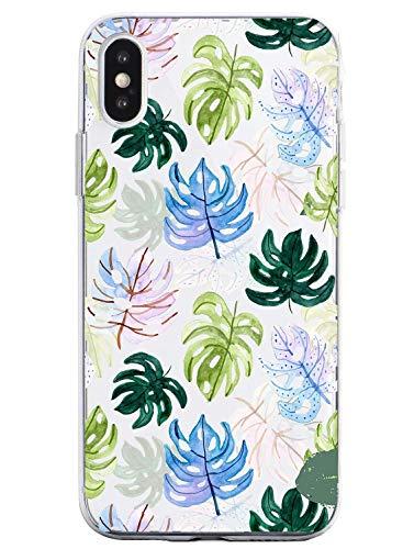 Suhctup Compatible con iPhone 6/iPhone 6S Funda Flor de TPU Transparente Diseño de Flores Patrón Cárcasa Ultra Fina Suave con Dibujos Claro Silicona Antigolpes Proteccion Caso(A13)