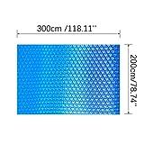 Styledress Pool Solarabdeckplane, schnellere Wassererwärmung & geringere Wasserverdunstung, rechteckig, blau - Diverse Größen