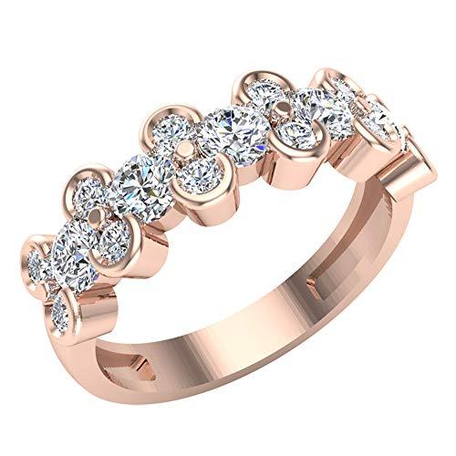 Glitz Design Mujer Niños Hombre Unisex oro 14 quilates (585) oro rosa 14ct Round Brilliant Diamond
