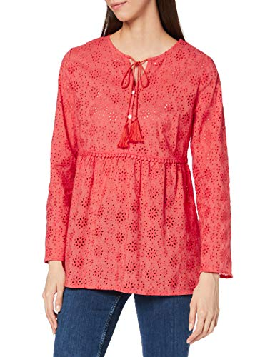 Joe Browns Damen Broderie Anglaise Smock Top Bluse, A-Koralle, 34