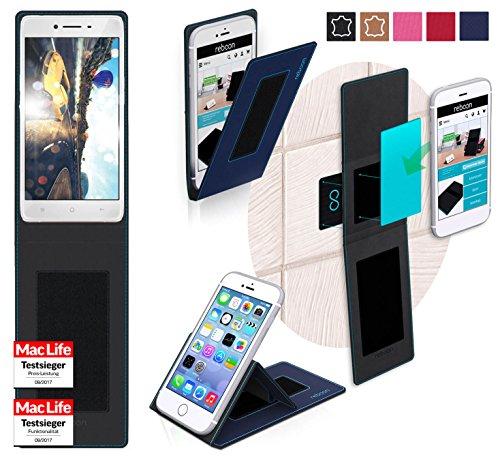 reboon Hülle für Oppo R7 Tasche Cover Case Bumper   Blau   Testsieger