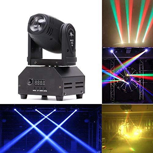 U'King 50W DMX512 Lichteffekt Mini Moving Head LED Pinspot Licht Stadiums Effekt 14CH-Bühnenlicht und Vier Kontrollmodus für Disco,Geburtstag party,Halloween,Hochzeit,Kinder Party,Weihnachten