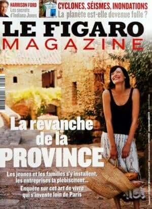 FIGARO MAGAZINE (LE) du 17-05-2008 LA REVANCHE DE LA PROVINCE - HARRISON FORD - LES SECRETS D'INDIANA JONES - CYCLONES - SEISMES - INONDATIONS - LA PLANETE EST-ELLE DEVENUE FOLL