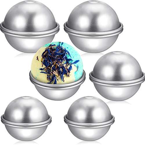 12 Pieces 3 Size Bath Bomb Molds Metal Bath Bomb Mold Bath Bomb Making Supplies for DIY Crafts Making, 2.36 Inch/ 6 cm, 2.76 Inch/ 7 cm, 3.15 Inch/ 8 cm