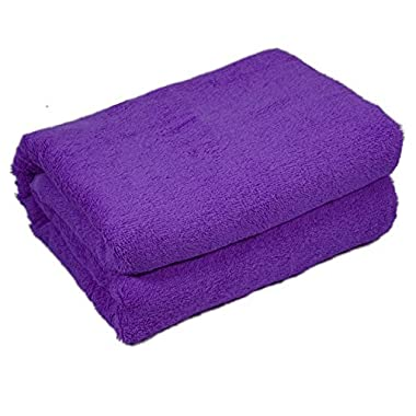 Home & Lounge Bath Towel Sheets - Extra Large 100% Turkish Cotton Spa and Hotel Towel - 35 Inch by 60 Inch - Luxury Soft and Comfortable Sheet - Machine Washable (Purple)