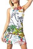 Desigual - Vestido sin mangas de verano para mujer Tropical Pacific Blanco 40