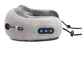 YUTRD Travel Neck Pillow Massagers Vibrating Cordless U-Shaped Memory Foam Kneading Head Neck Support Pollow for Pain Relief, for Airplane,Train,Car Travel