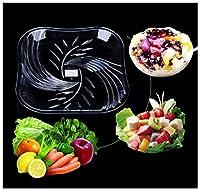 Y.H.Valuable フルーツバスケット フルーツボウル - ファッション多目的フルーツバスケットアクリル食品プラスチックスナックプレートドライフルーツフルーツ皿 (サイズ さいず : 25センチメートル)