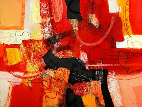 AFDRUKKEN-op-GEROLDE-CANVAS-Aan-de-voorzijde-van-de-open-haard-Piovan-Maurizio-Abstract-Afbeelding-gedruckt-op-canvas-100%-katoen-Opgerolde-canvas-print-Ku-Afmeting-93_X_123_cm