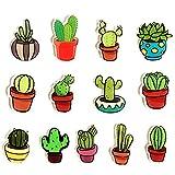 JUSTDOLIFE - Juego de 13 imanes para nevera con cactus, imán para pizarrón blanca, decoración del hogar