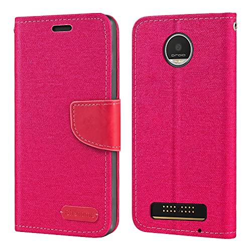 Capa para Motorola Moto Z Play, capa carteira de couro Oxford com capa traseira magnética de TPU macio para Motorola Moto Z Play