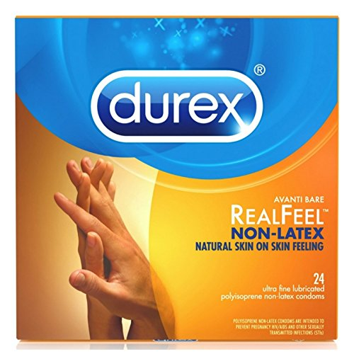Durex Avanti Bare RealFeel Non-Latex Condom, 24 ct