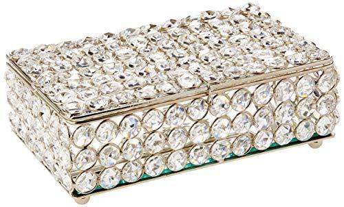Caixa Cristal Retangular Sarquis Samara Cinza