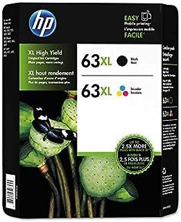 HP 63XL Black/Color Combo Ink Cartridges, 2 pk