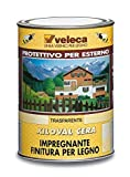 Veleca GW61046 Xiloval Cera, Impregnante Cerato per Legno, Trasparente