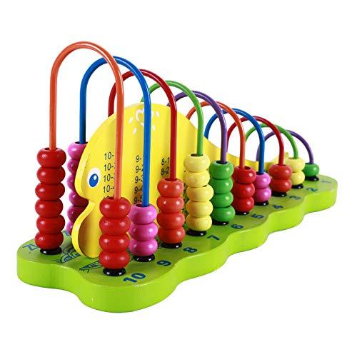 Mvude Hölzerner Perlenabakus für Kinder Bunter Zählrahmen Mathematik Frühes pädagogisches Spielzeuggeschenk für Kinder