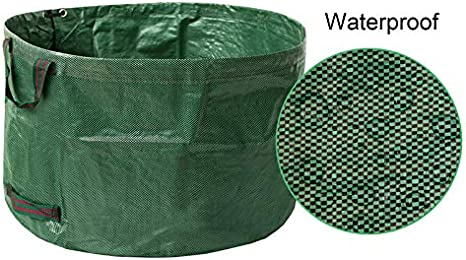 Abision 3 Pieces Polyester Leaf Bag 63 Gallons Waterproof Yard Waste Bags Gardening Garbage Recycling Processing Bag Lawn Bags and Patio Standable Bag
