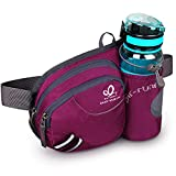 WATERFLY Hiking Waist Bag Fanny Pack with Water Bottle Holder for Men Women Running & Dog Walking Fit All Phones (Bottle Not Included)