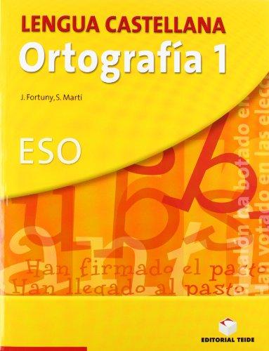 Lengua castellana, ortografía, 1 ESO. Cuaderno y solucionario - 9788430749829