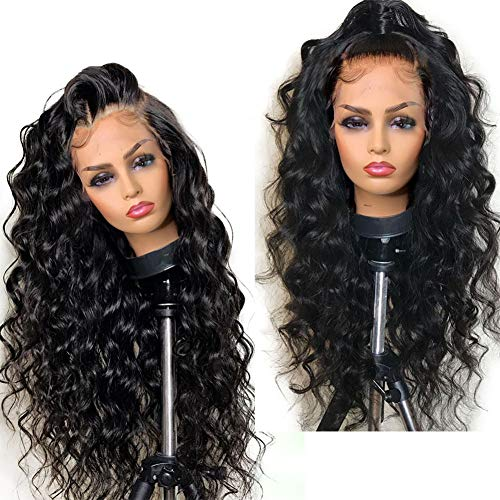 """Glueless Full Lace Wigs for Women 150% Density Human Hair Wigs with Baby Hair for Body Wave Human Hair Full Lace Wig Brazilian Virgin Human Hair Loose Curly Wigs 12"""" Wavy Wig"""