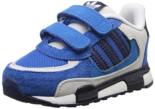 adidas ZX 850 CF I, Chaussures Unisexes pour bébé - Multicolore - Bleu/Gris/Blanc, 22 EU EU