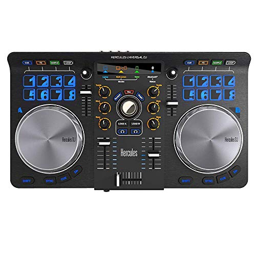 Hercules Universal DJ | Bluetooth + USB DJ controller with wireless tablet and smartphone...