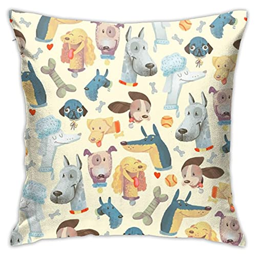 87569dwdsdwd Playful Pupshollybender Throw Pillow Cover Pillow Cases for Home Decor Design Cushion Case for Sofa Bedroom Car 18 X 18 Inch 45 X 45 cm