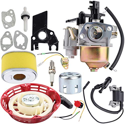 Kuupo 69730 69727 212CC Carburetor + Recoil Starter + Ignition Coil Spark Plug Kit for Harbor Freight Predator 6.5 HP 7HP 173CC 212CC Go Kart OHV Engine R210 68121 68120