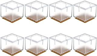 Guoc Tapas de la Pata de Mesa,Paquetes de Protectores de Piso de Silicona,Tapas de Patas para sillas,Muebles Cuadrados,pies de Mesa,Tapas de la Pata de Mesa