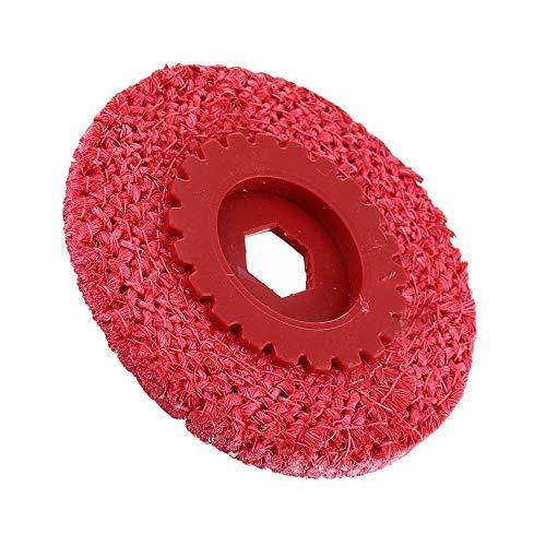 Rotary Accessori Strumento Angolo Grinding Red corda della canapa di lucidatura della rotella del metallo dell'acciaio inossidabile Coarse Grinder rattificare