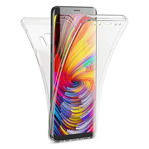 Kaliroo Handyhülle 360 Grad kompatibel mit Samsung Galaxy S9, Dünne Silikon R&um Hülle Full-Body Cover, Slim Schutzhülle Handy-Tasche Phone Hülle, Vorne und Hinten Komplett-Schutz Schale - Transparent