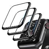 [3 confezione] Protezione Schermo per Apple Watch Series 6/SE/5/4 44mm 3D Bordo Curvo Anti Graffio Bubble Gratuita HD Ultra Shappatrice Flessible Pellicola Protettiva Flessibile (44mm)