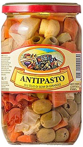 Nesti Conserve Alimentari Antipasto all' Olio di Girasole - Pacco da 6 X 660 g