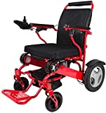 XRZY Scooter de Cuatro Ruedas, Silla de Ruedas Plegable, Control Remoto inalámbrico Inteligente de Alta Gama Silla de Ruedas eléctrica de Litio Aleación de Aluminio para discapacitados