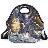 Estrellas astronauta del planeta espacial, bolsa de almuerzo,...