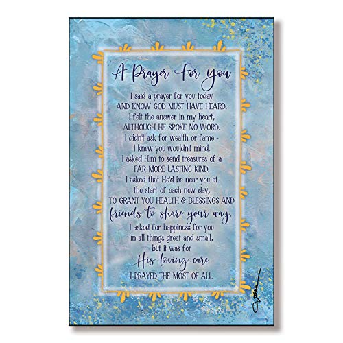 Prayer for You Wood Plaque with Inspiring Quotes 6x9 - Classic Colorful Vertical Frame Wall