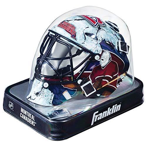 Franklin Sports Eishockey-Sammelartikel Torwart-Helm Mini, Design: Logo Einer NHL-Mannschaft, 7784F04, Navy