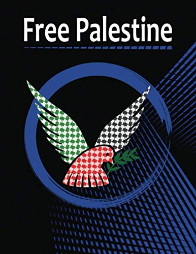 """『Free Palestine: 200 Pages, Size 8.5"""" X 11"""" Blank Lined Notebook, can be used to practice handwriting.』の1枚目の画像"""