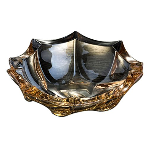 Kristal glas asbak creatieve hand patroon gepersonaliseerde woonkamer decoratie vriend cadeau paraplu vorm goud koffie kleur