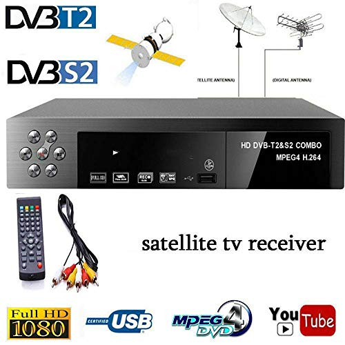 Great Deal! Mingbao Smart Digital Satellite TV Receiver DVB-T2+DVB-S2 FTA 1080P Decoder Tuner MPEG4