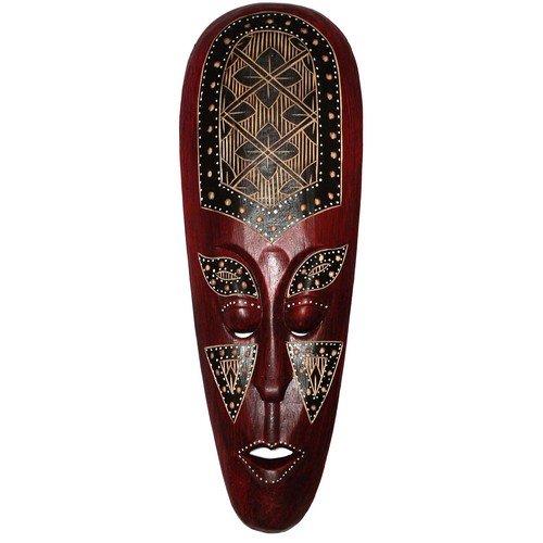 Super schöne 50 cm Maske Holz Maori Afrika Maske27