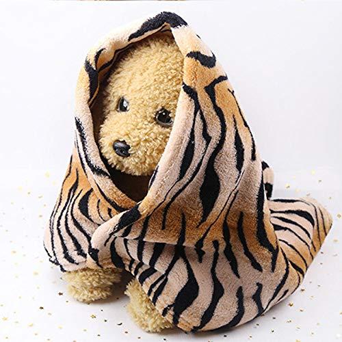 MIANJUMJ Hundedecke Katzendecke,Weiches Flanell Hund/Katze Decken Mode Tiger Gestreift Haustiere Hund Katze Bett Matten Für Kleine Und Mittlere Hunde Warme Waschbar Schlafsack Decke, 70 X 55 cm