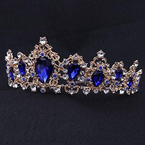 Lurrose Corona de Novia de Boda Peinetas Corona de Cristal Diamantes de...