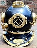 nautical gifts shop Dark blueish Scuba Diving Helmet in Iron and Aluminium 18 Inches