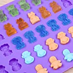 Silicone-Candy-Gummy-Bear-Molds-Chocolate-Molds-Including-Bears-Frogs-Lions-Monkeys-Penguins-Gummie-Molds-Premium-Silicone-BPA-Free-Pinch-Test-Approved-Pack-of-4-with-2-Droppers